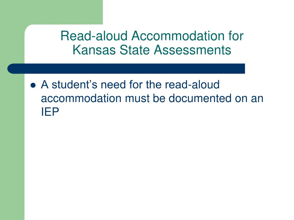 Read-aloud Accommodation for