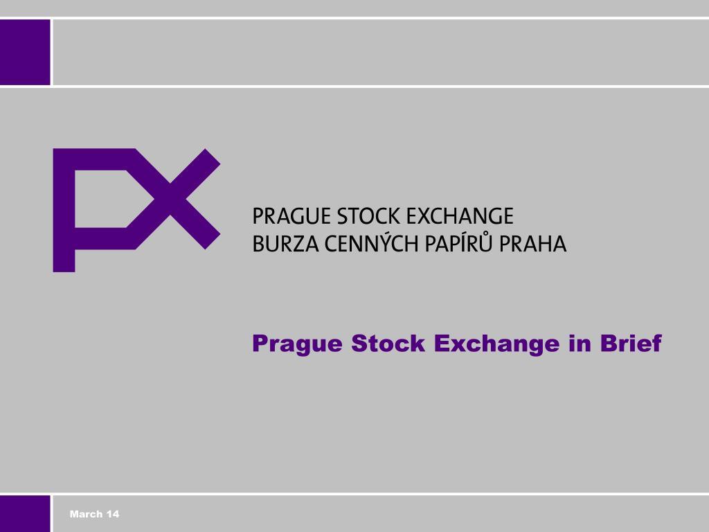 prague stock exchange in brief l.