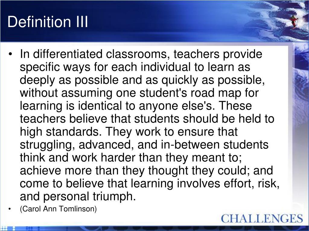 Definition III
