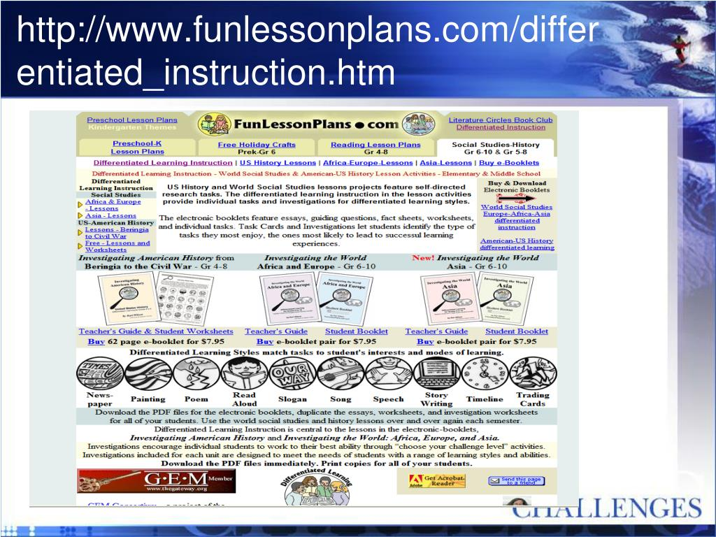 http://www.funlessonplans.com/differentiated_instruction.htm