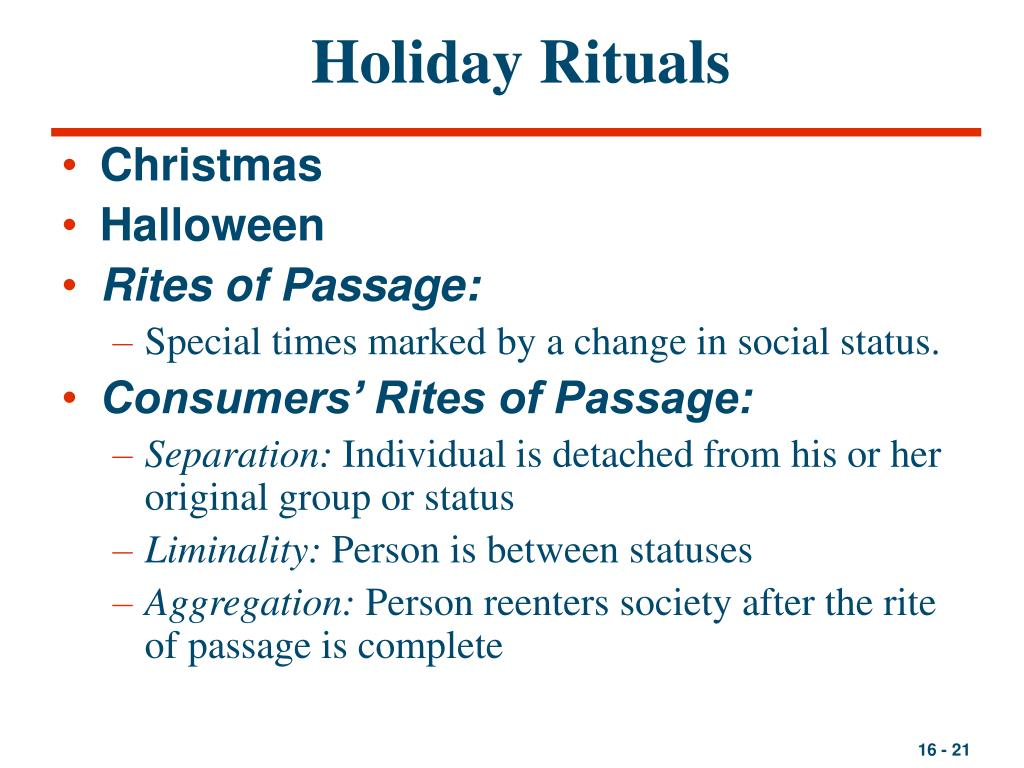 Holiday Rituals