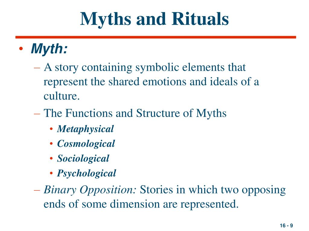 Myths and Rituals