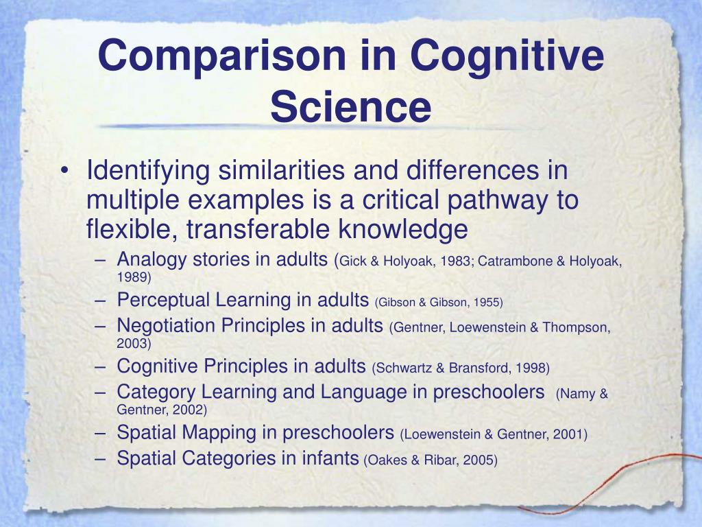 Comparison in Cognitive Science