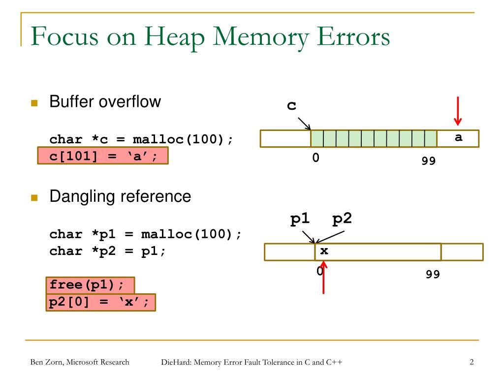 Focus on Heap Memory Errors