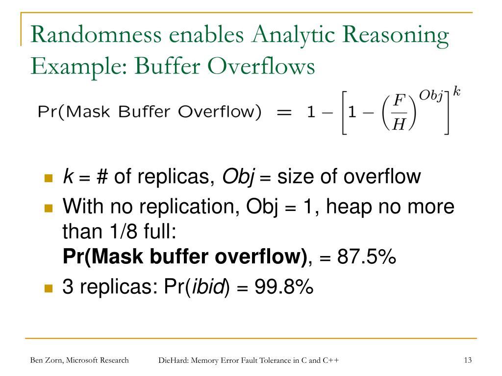 Randomness enables Analytic Reasoning