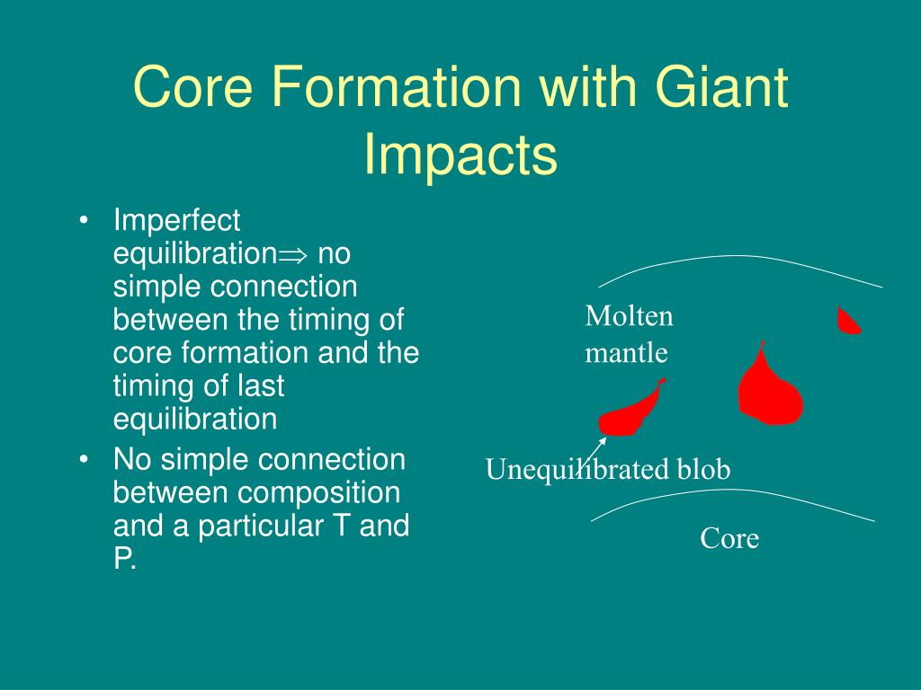 Core Formation with Giant Impacts