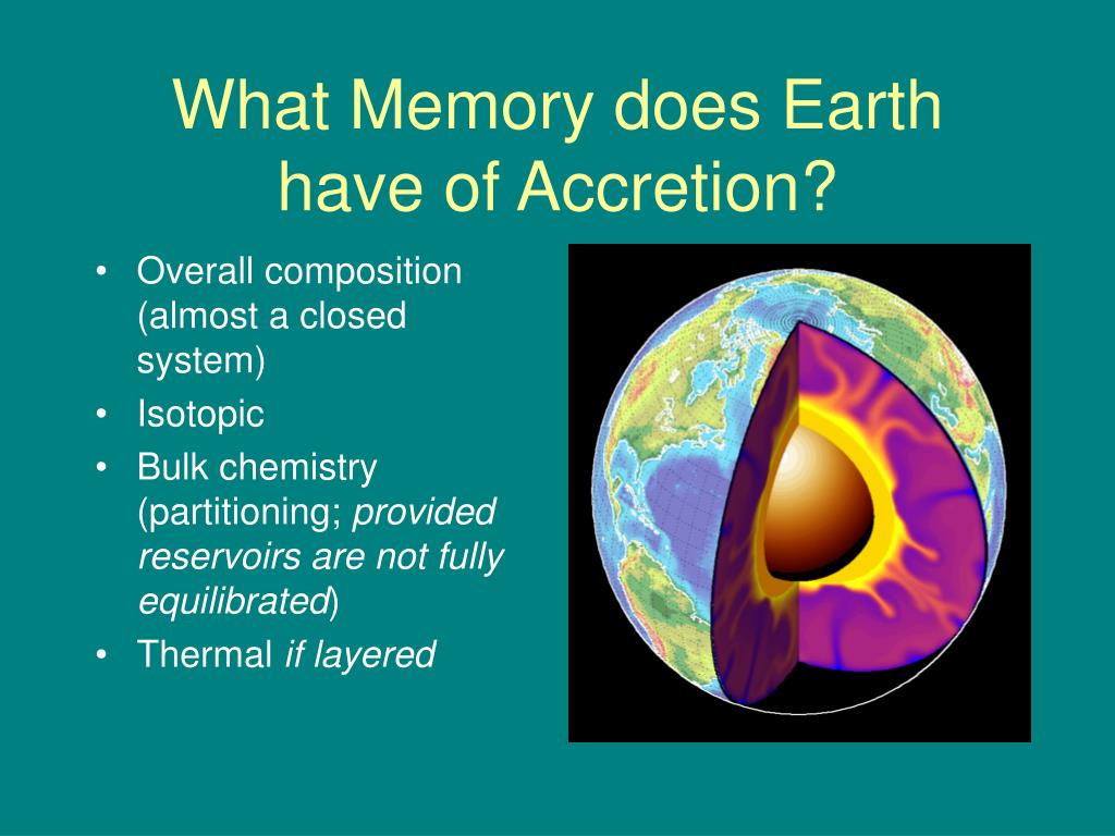 What Memory does Earth have of Accretion?