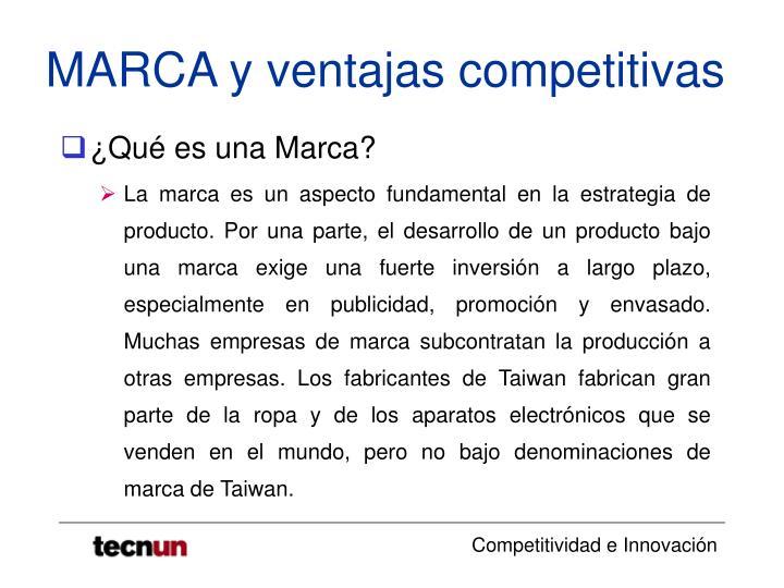Marca y ventajas competitivas3