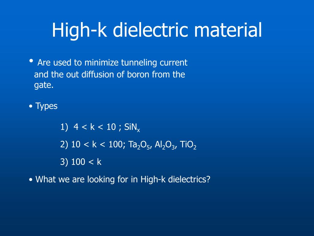 High-k dielectric material