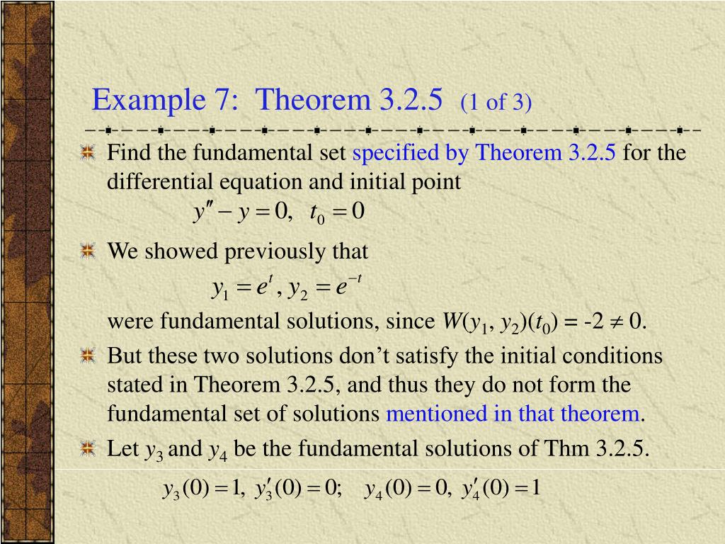 Example 7:  Theorem 3.2.5