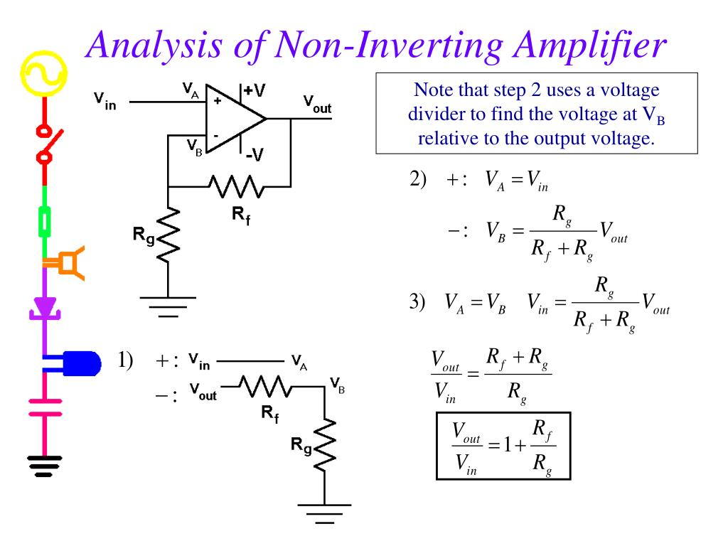 Analysis of Non-Inverting Amplifier