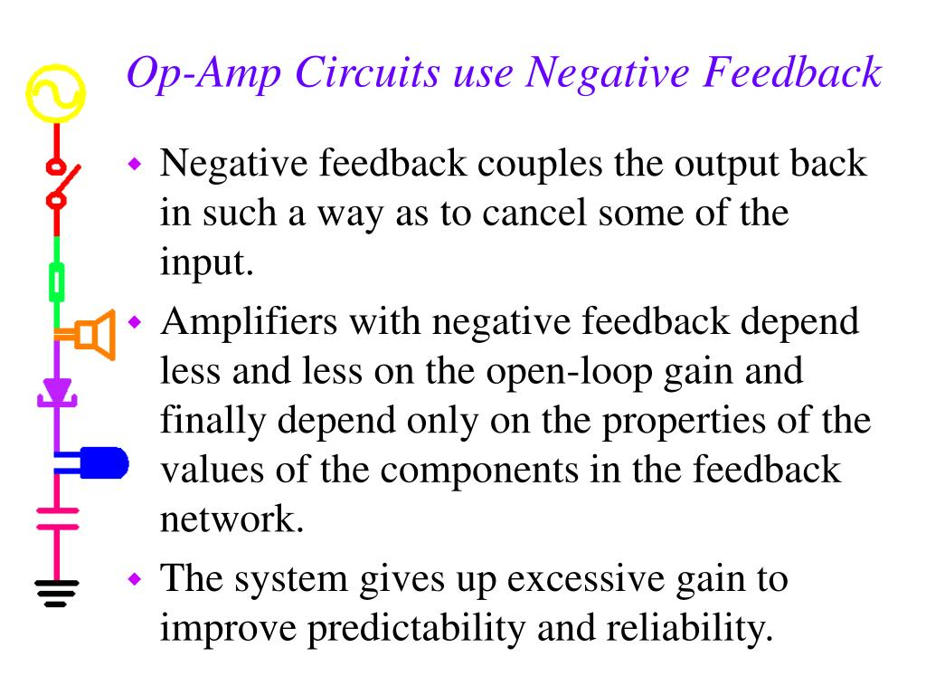 Op-Amp Circuits use Negative Feedback
