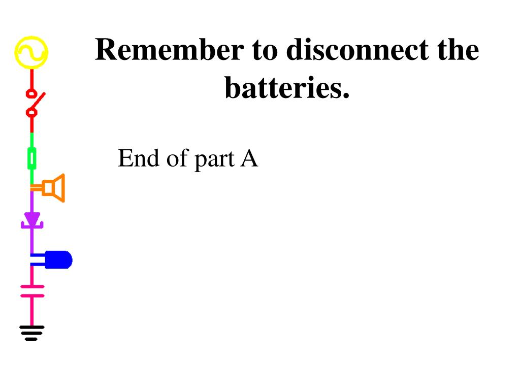 Remember to disconnect the batteries.