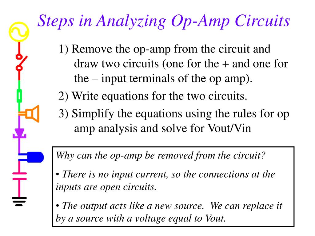 Steps in Analyzing Op-Amp Circuits