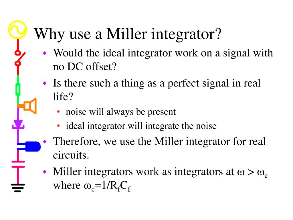 Why use a Miller integrator?