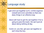 language study22
