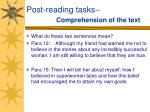 post reading tasks comprehension of the text37