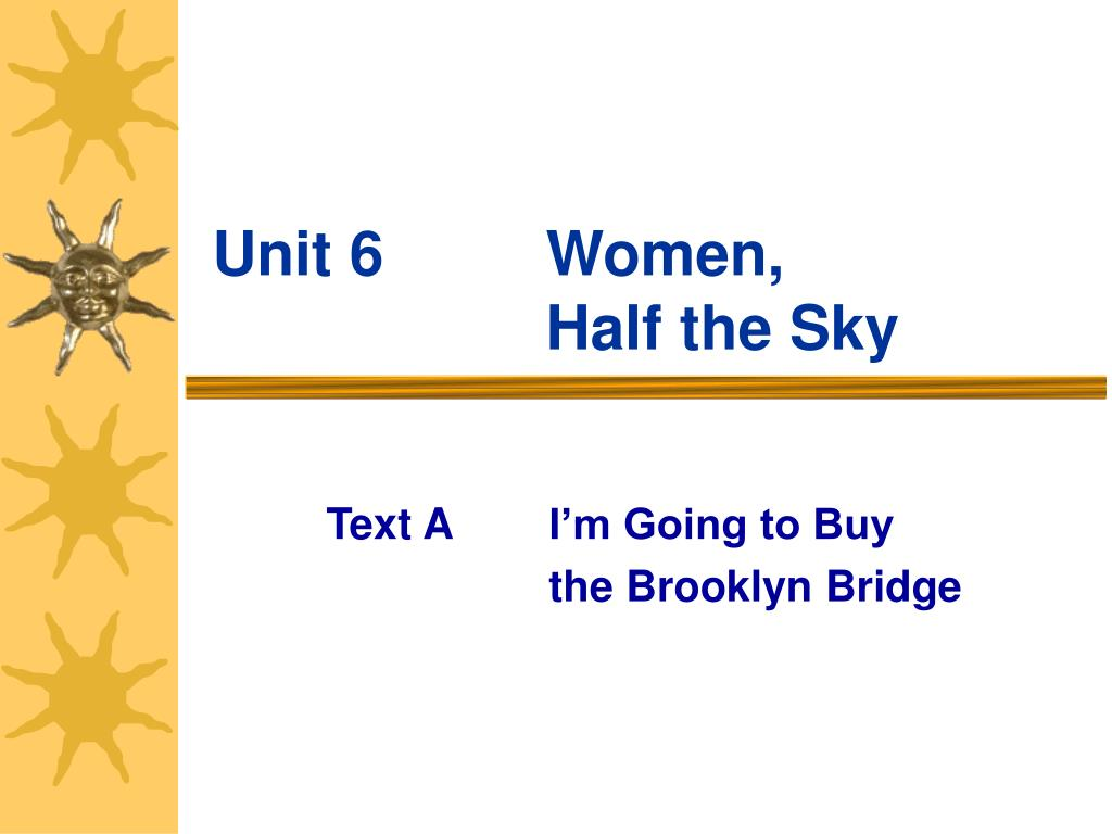 unit 6 women half the sky l.