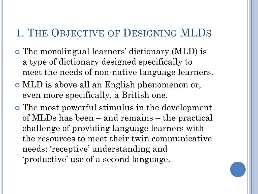 1. The Objective of Designing