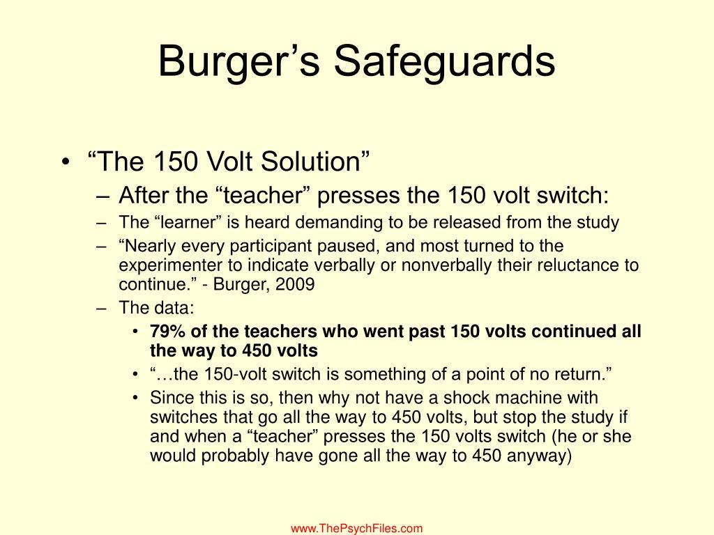 Burger's Safeguards