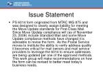 issue statement