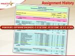 assignment history