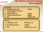 roi monthly search 3 positions interchangeable