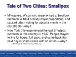 tale of two cities smallpox