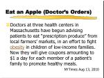 eat an apple doctor s orders