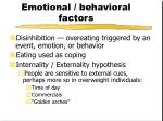 emotional behavioral factors