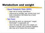 metabolism and weight