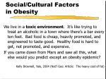social cultural factors in obesity