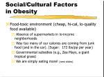 social cultural factors in obesity25