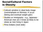 social cultural factors in obesity29