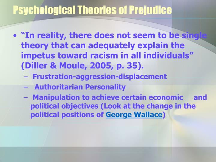 theories of prejudice Institutional racism (also known as structural racism, state racism or systemic racism) is racial discrimination by governments, corporations, religions, or educational institutions or other large organizations with the power to influence the lives of many individuals.