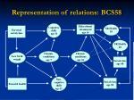 representation of relations bcs58