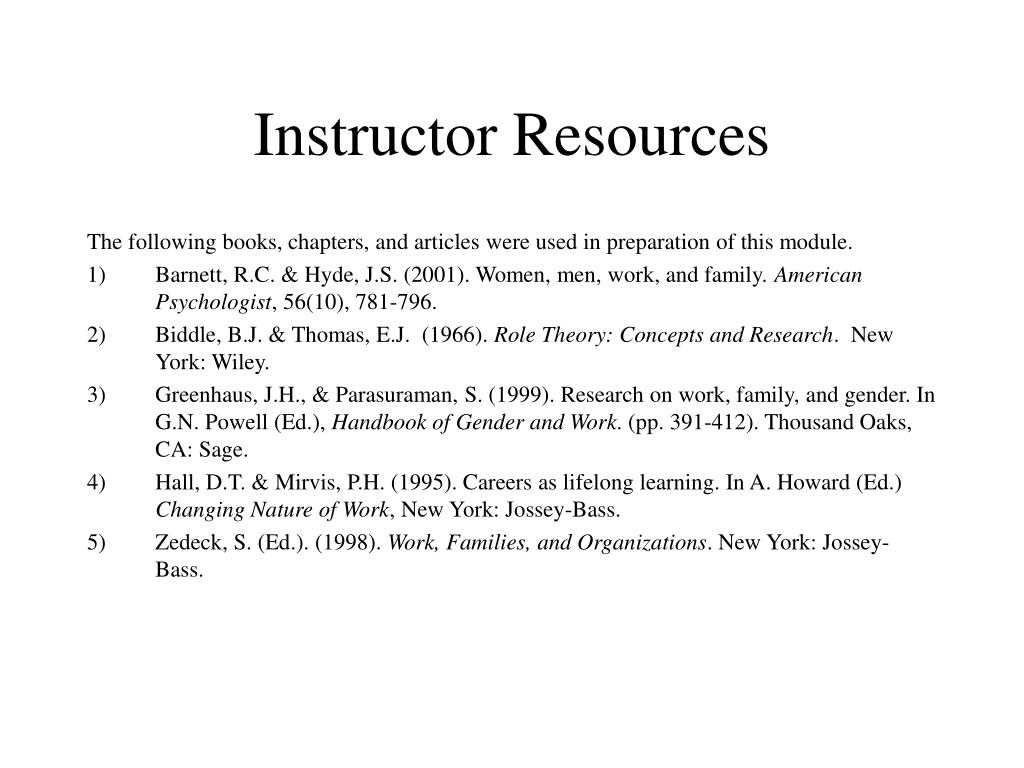 Instructor Resources