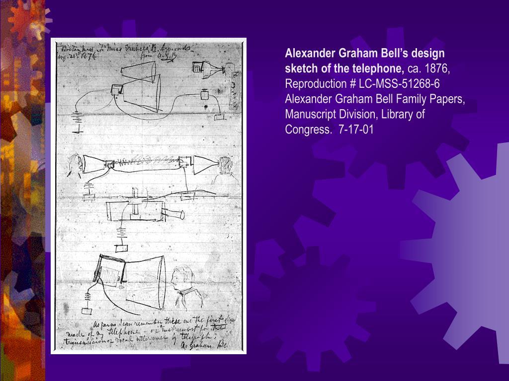Alexander Graham Bell's design sketch of the telephone,
