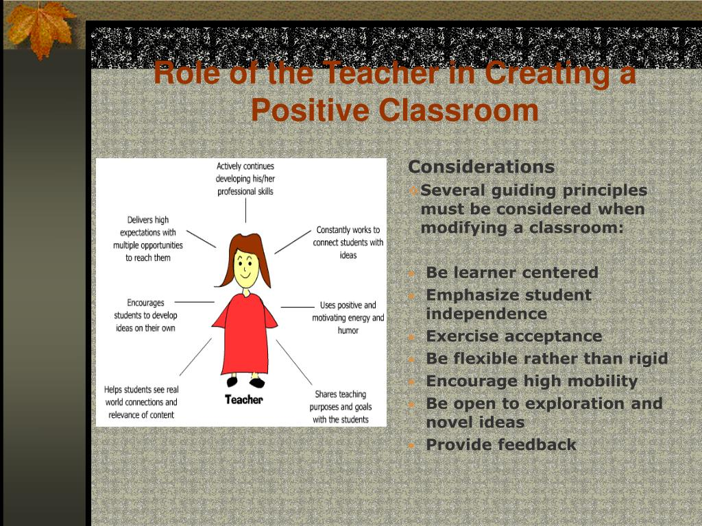 Role of the Teacher in Creating a Positive Classroom
