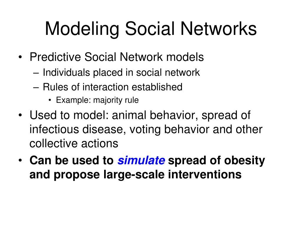 Modeling Social Networks