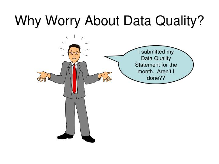 Why worry about data quality