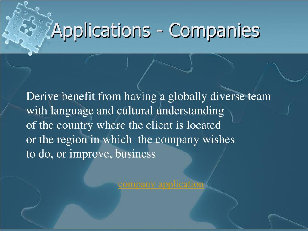 Applications - Companies