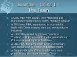 example china 1 the team