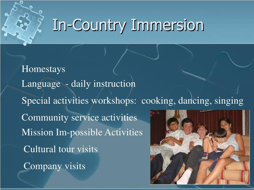 In-Country Immersion