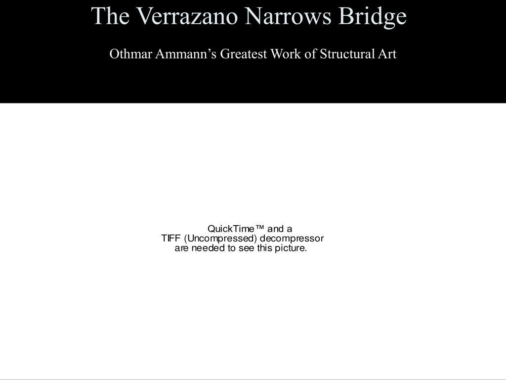 the verrazano narrows bridge l.