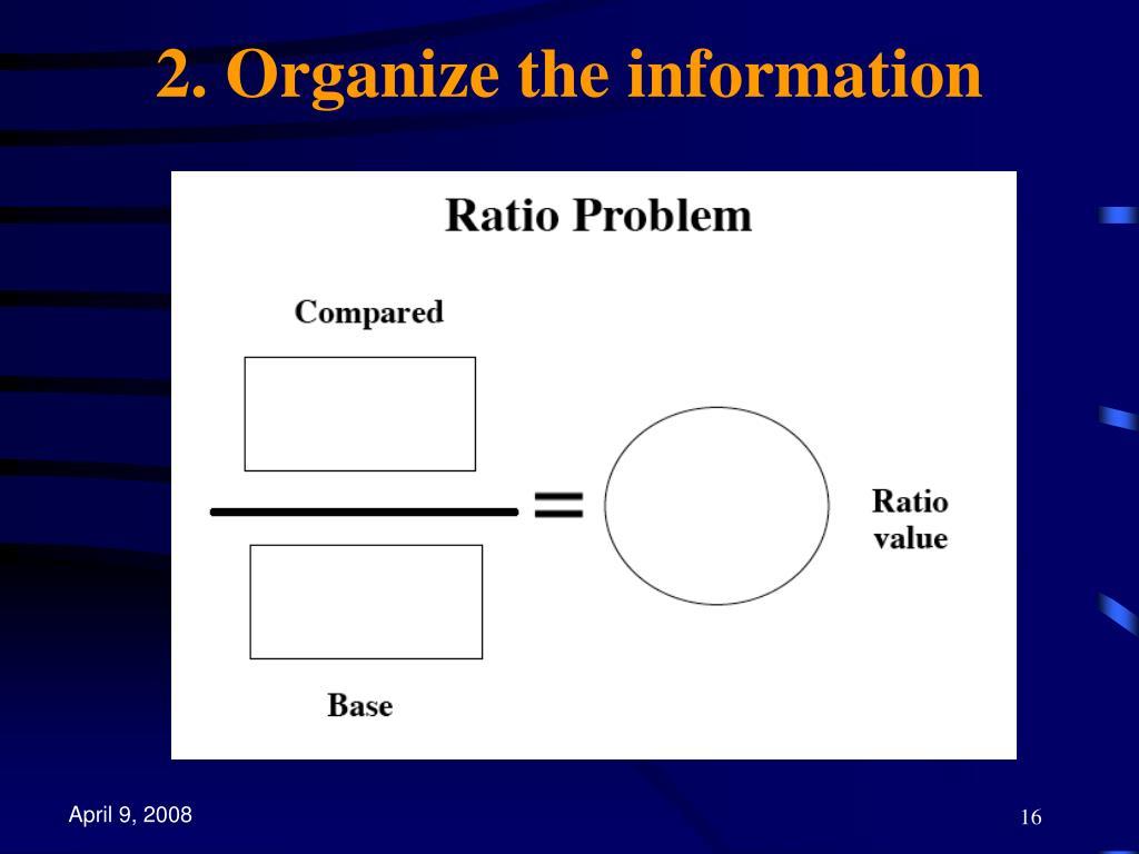 2. Organize the information