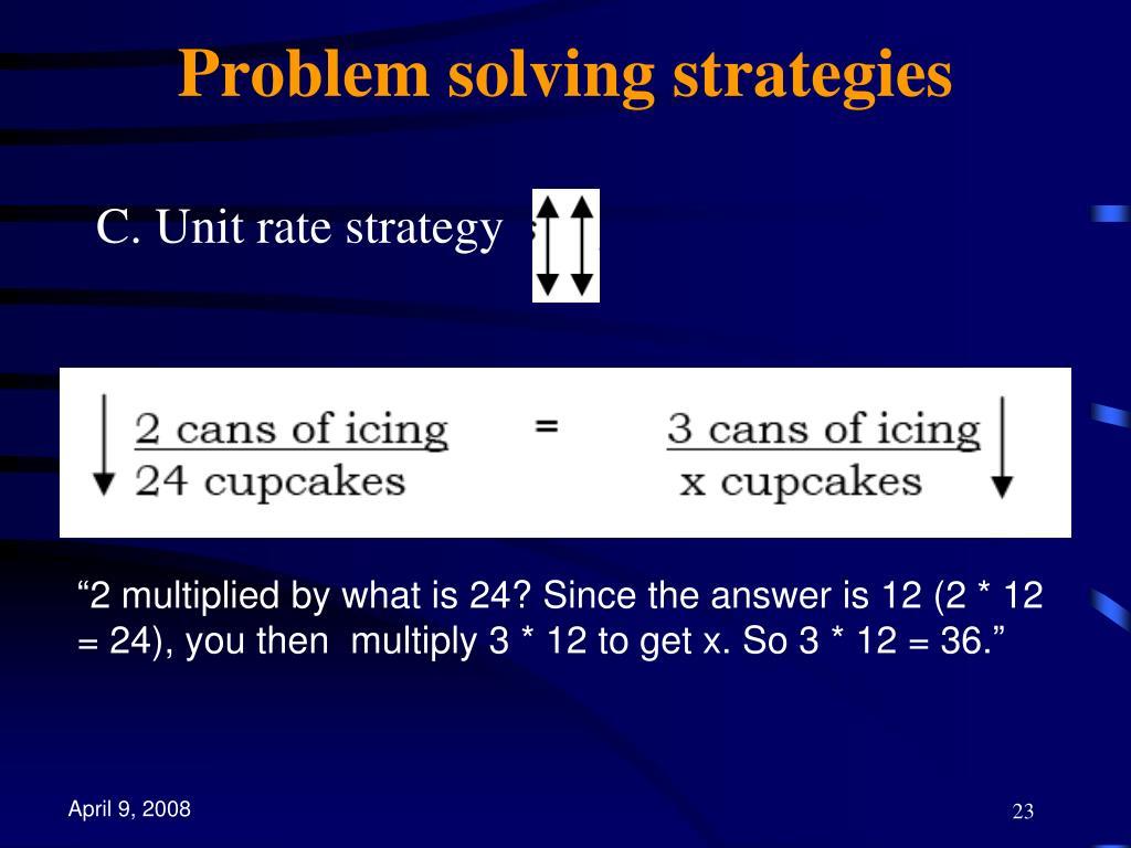 Problem solving strategies