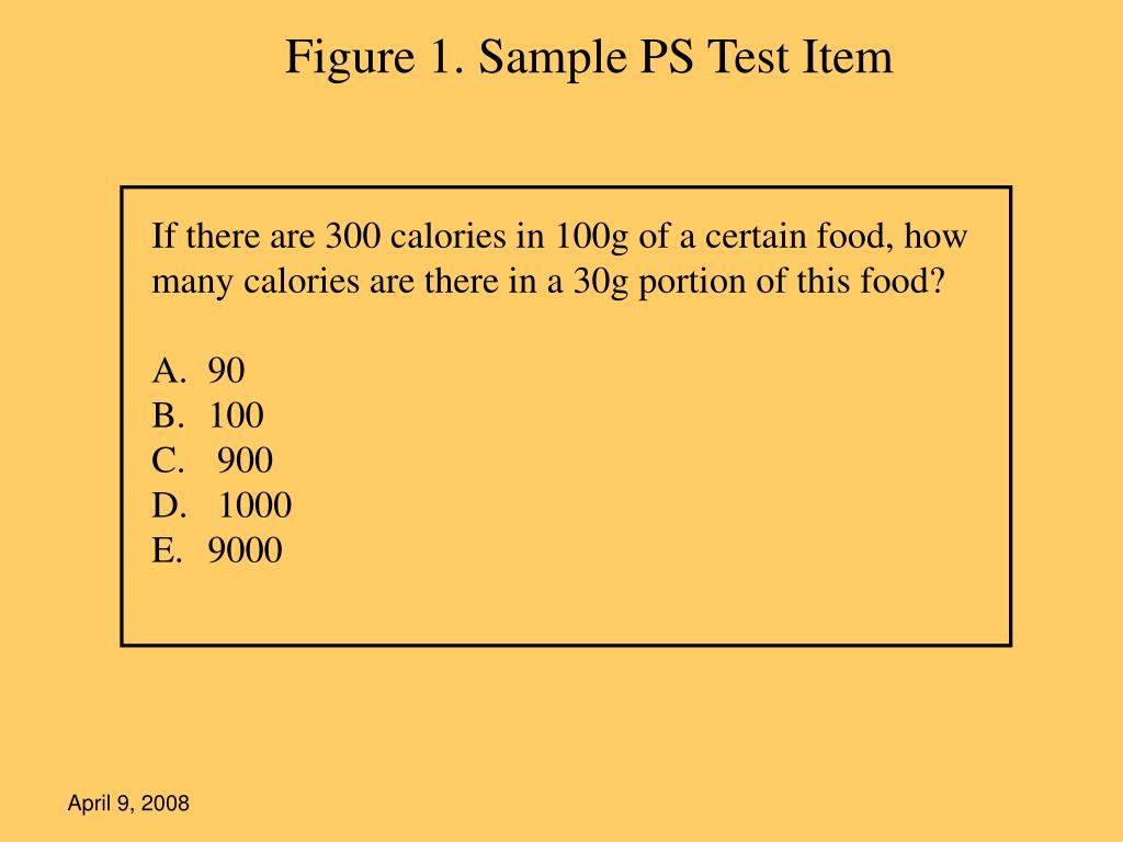Figure 1. Sample PS Test Item