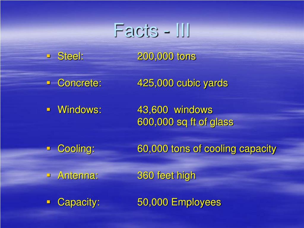 Facts - III