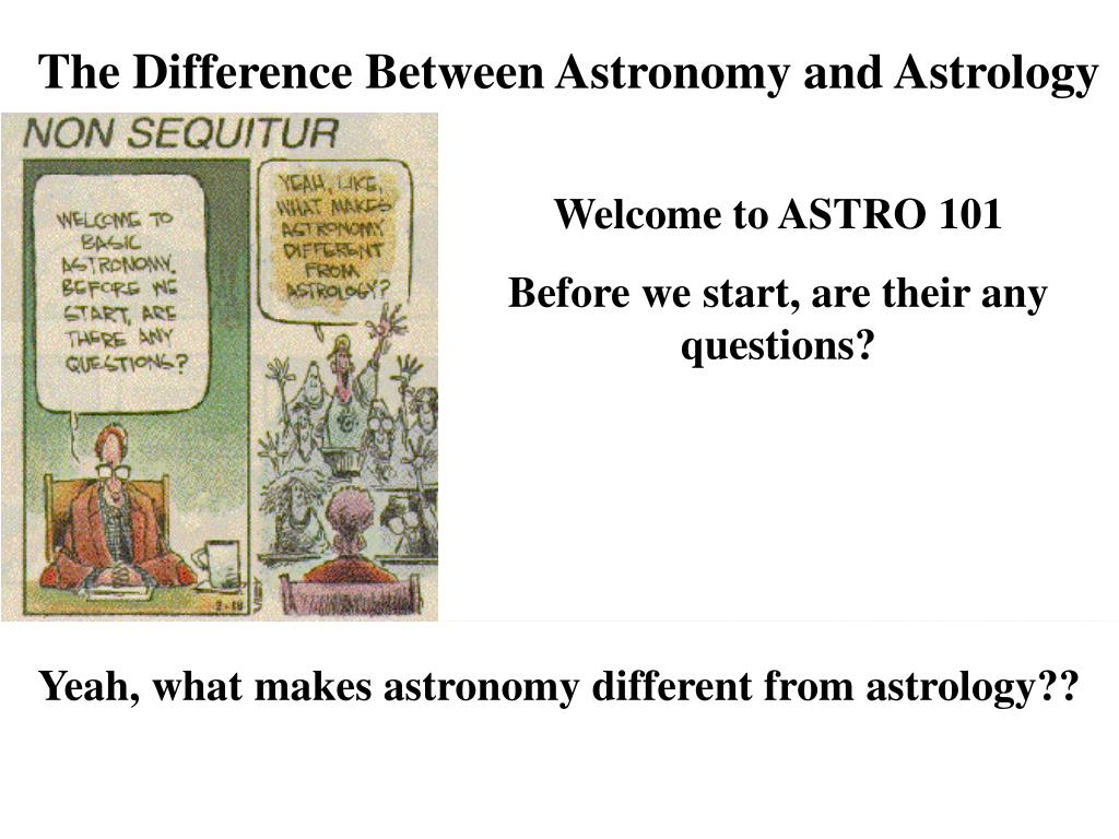 The Difference Between Astronomy and Astrology